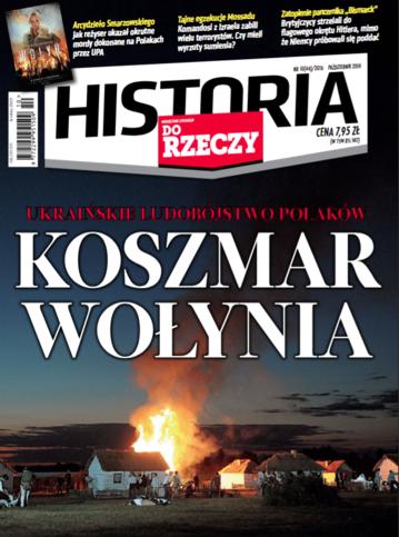 """Okładka miesięcznika """"Historia Do Rzeczy"""" nr 10/2016 (44)"""